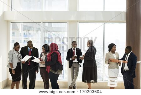 Diverse Business People Meeting Partnership