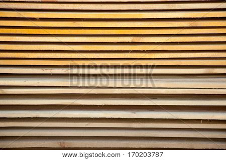 Board Pine Wood in stacks. Tree Texture