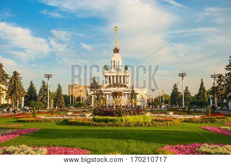 Exhibition of Economic Achievements - second largest exhibition center in Moscow. ENEA territory rich in various architectural monuments, many of which are known throughout world. Russia Moscow. September 21, 2015