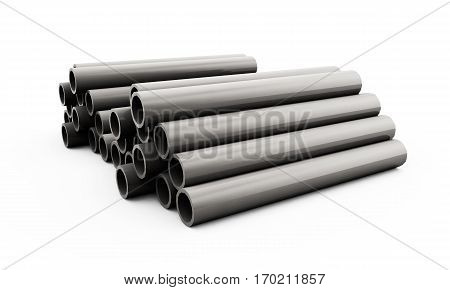 3d render of concrete pipe Management, Tubes, Facility, Vessels