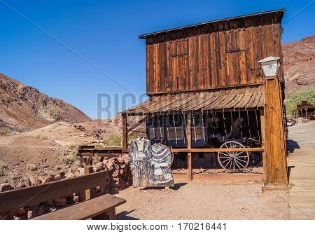 OCTOBER, 14, 2015, Calico, CA, USA: Calico, a ghost town in California, founded in 1881 as a silver mining town, the  county park now.