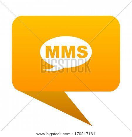 mms orange bulb web icon isolated.