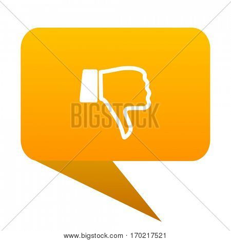 dislike orange bulb web icon isolated.