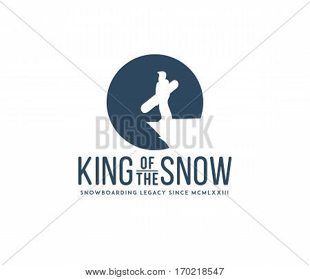 Vector winter sport king of the snowboarding