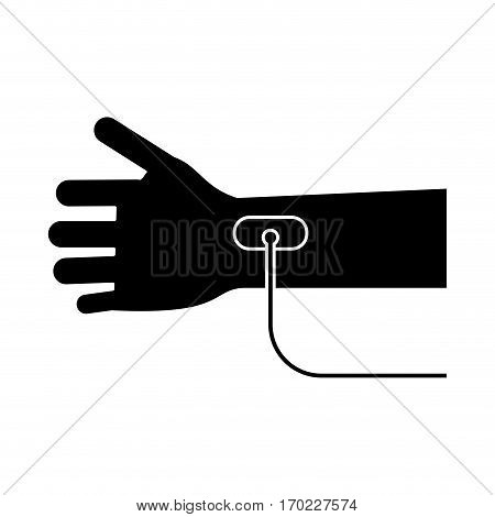hand transfusion drop pictogram vector illustration eps 10