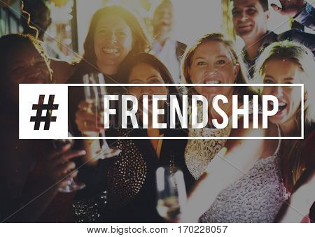 Cheers Enjoy Friends Happy Merriment Party Together