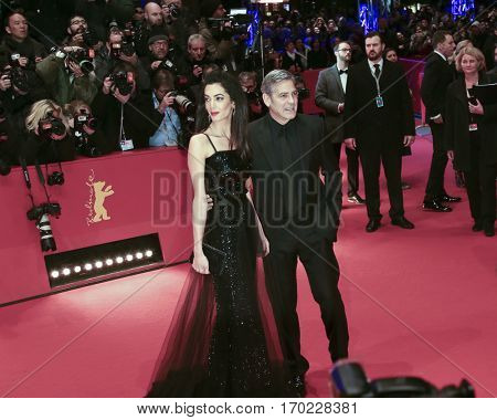 George Clooney, Amal Alamuddin attend the 'Hail, Caesar!' Premiere during the 66th Berlinale International Film Festival on February 11, 2016 in Berlin, Germany.