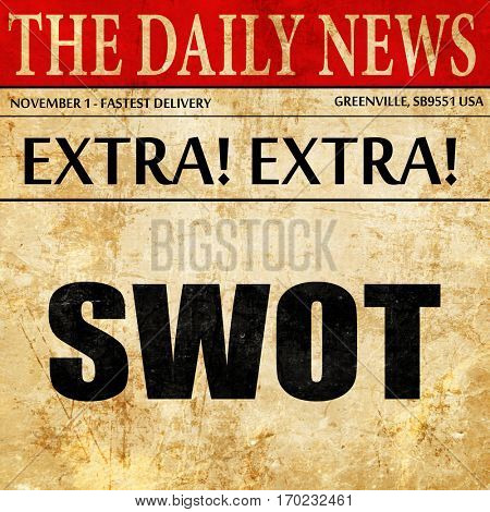 swot, newspaper article text