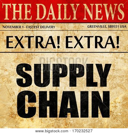 supply chain, newspaper article text