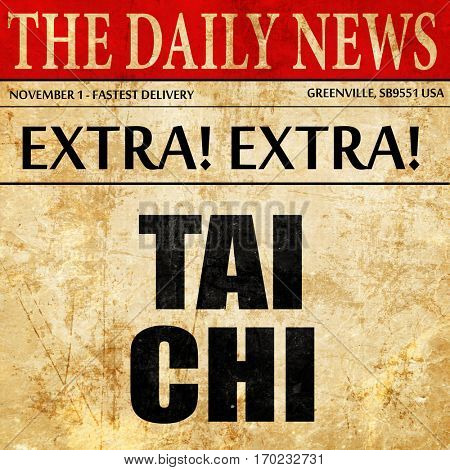 Tai chi, newspaper article text