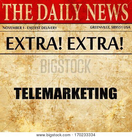 telemarketing, newspaper article text
