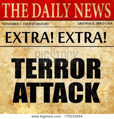 terror attack, newspaper article text