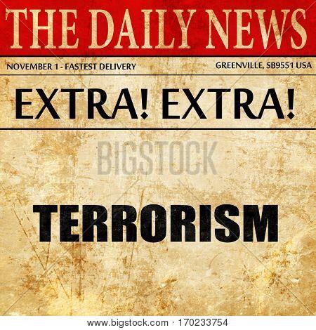 terrorism, newspaper article text