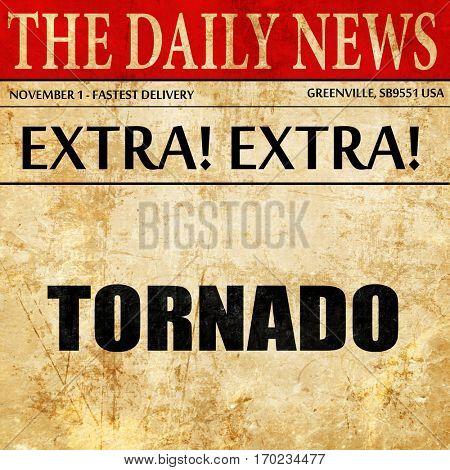 tornado, newspaper article text