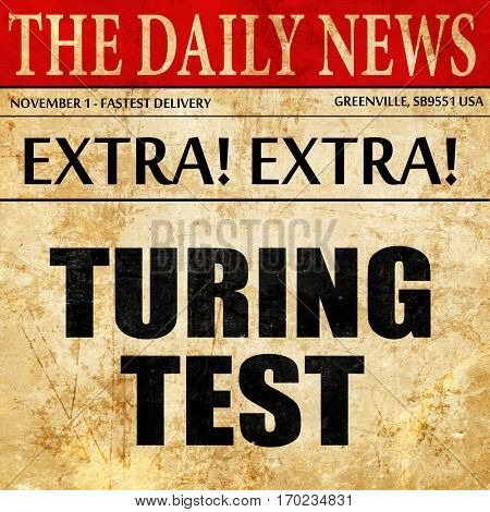 turing test, newspaper article text