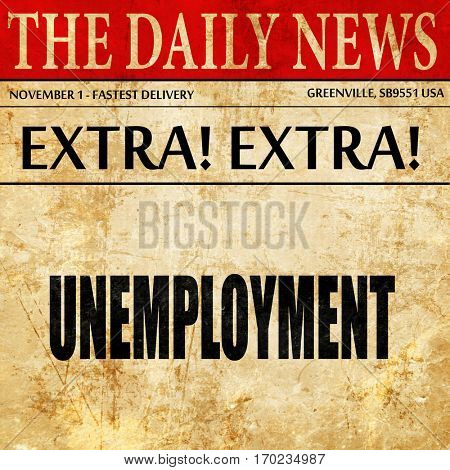unemployment, newspaper article text