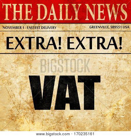 vat, newspaper article text