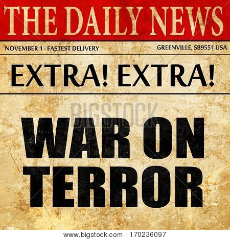war on terror, newspaper article text