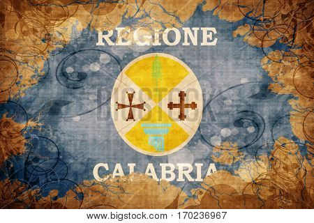Vintage Calabria flag with grunge effect