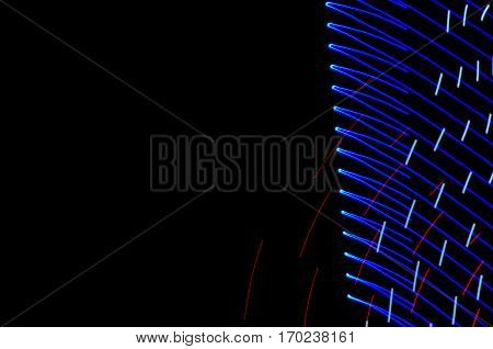 Light Painting. Abstract, Futuristic, Colorful Long Exposure, Black Background-20