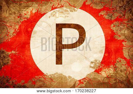 Vintage parking not allowed background
