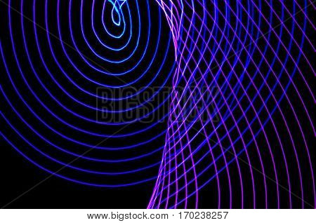 Light Painting. Abstract, Futuristic, Colorful Long Exposure, Black Background-22
