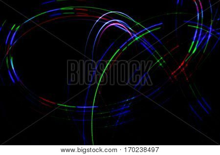 Light Painting. Abstract, Futuristic, Colorful Long Exposure, Black Background-31