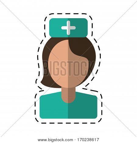 cartoon nurse staff medical hospital vector illustration eps 10