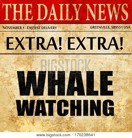 whale watching, newspaper article text
