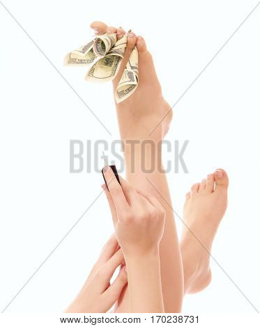 Pedicure, isolated on white background