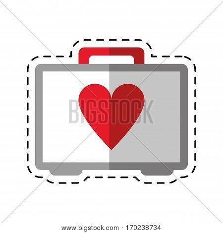 cartoon first aid kit emergency heart care vector illustration eps 10