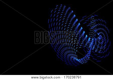 Light Painting. Abstract, Futuristic, Colorful Long Exposure, Black Background-39