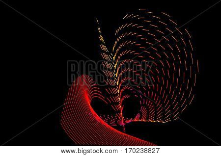 Light Painting. Abstract, Futuristic, Colorful Long Exposure, Black Background-41