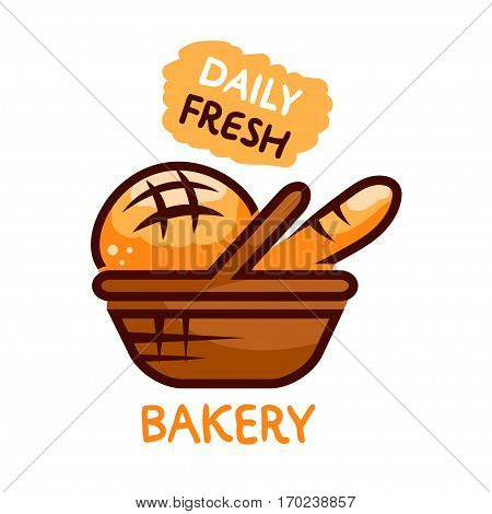 Bakery shop emblem designs of fresh bakery products