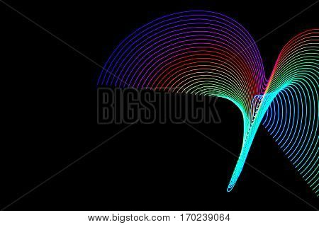 Light Painting. Abstract, Futuristic, Colorful Long Exposure, Black Background-47
