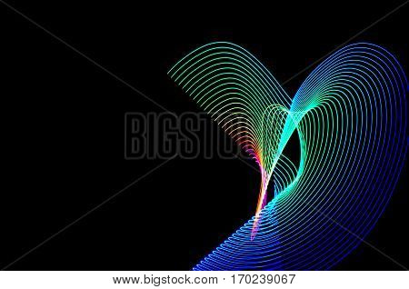 Light Painting. Abstract, Futuristic, Colorful Long Exposure, Black Background-46