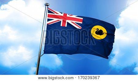 Western australia flag, 3D rendering