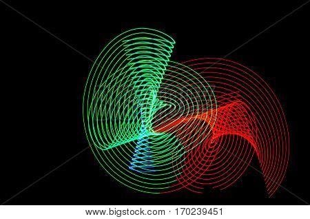 Light Painting. Abstract, Futuristic, Colorful Long Exposure, Black Background-57