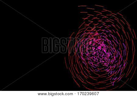 Light Painting. Abstract, Futuristic, Colorful Long Exposure, Black Background-60