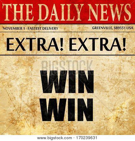 win win, newspaper article text
