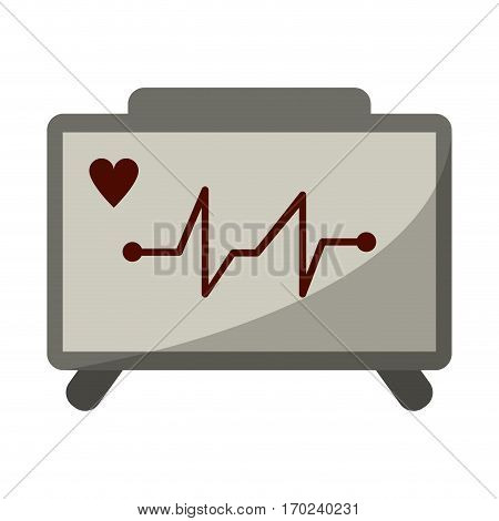 ecg heart machine medical device vector illustration eps 10