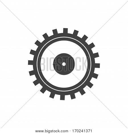 one isolatd settings icons with cogwheel, gear