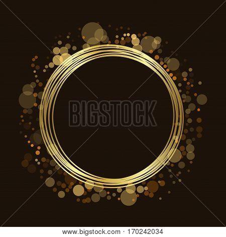 Gold Circle Glitter Background