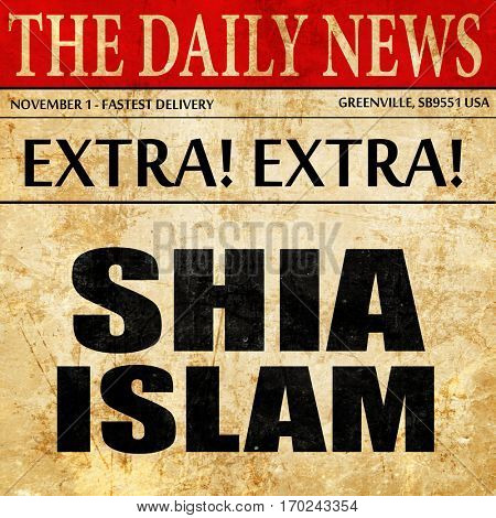 shia islam, newspaper article text