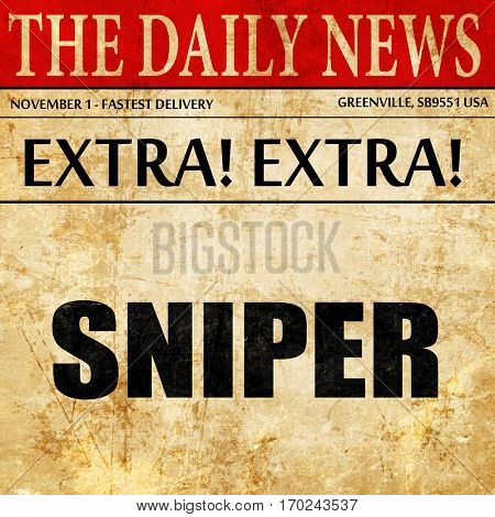 sniper, newspaper article text