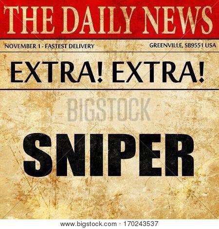 sniper, newspaper article text