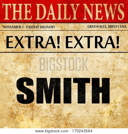 smith, newspaper article text