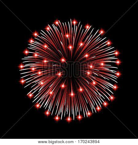 Firework Bursting Sparkle Isolated