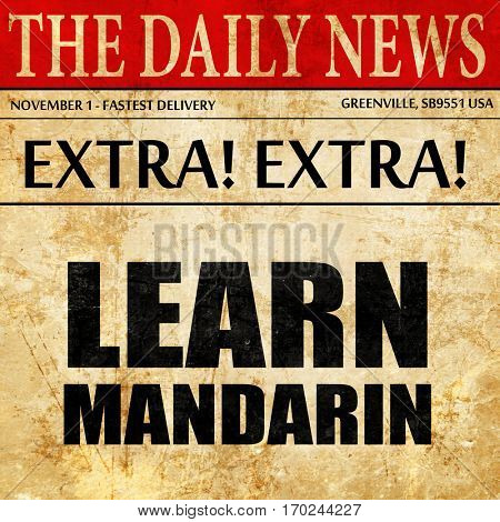 learn mandarin, newspaper article text