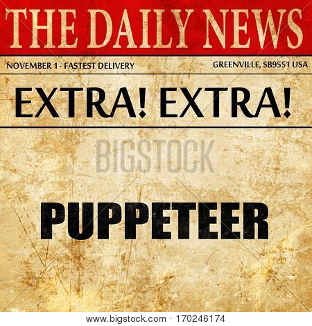 puppeteer, newspaper article text